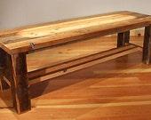 Reclaimed Wood Rustic Heritage Cross Cut Bench