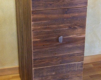 Reclaimed barn wood Rustic Heritage 3 drawer file cabinet