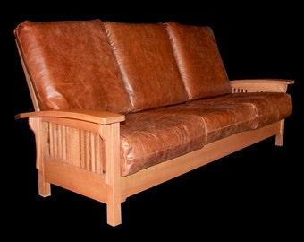 Morris Oak Sofa