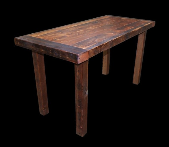 Bar Custom Wood And Woods: Reclaimed Wood Counter Height Dining Table