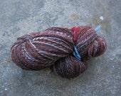 Handspun yarn--Antique red