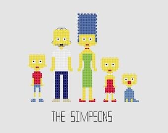 Cross Stitch Pattern - The Simpsons//Craft Supplies//PDF Pattern//Instant Download//Digital Download