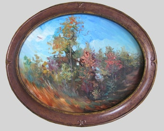 """Oil on Canvas Original painting  """"Autumn in expression"""" Vesna Longton"""