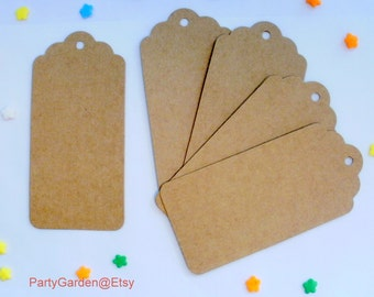 Kraft Hang Tags - Gifts, Weddings, Showers, Parties - 20 ct