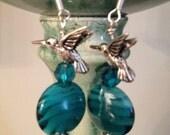 Turquoise Hummingbird Earrings