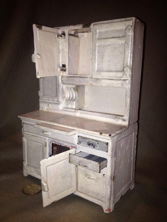 Antique Arcade Cast Iron Kitchen Hoosier Cabinet
