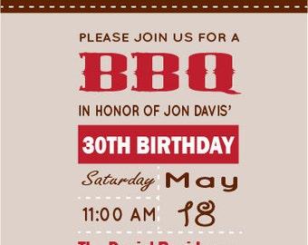 BBQ Birthday Invitation