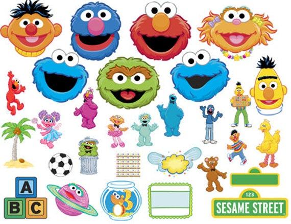 INSTANT DOWNLOAD Sesame Street Characters Frames By