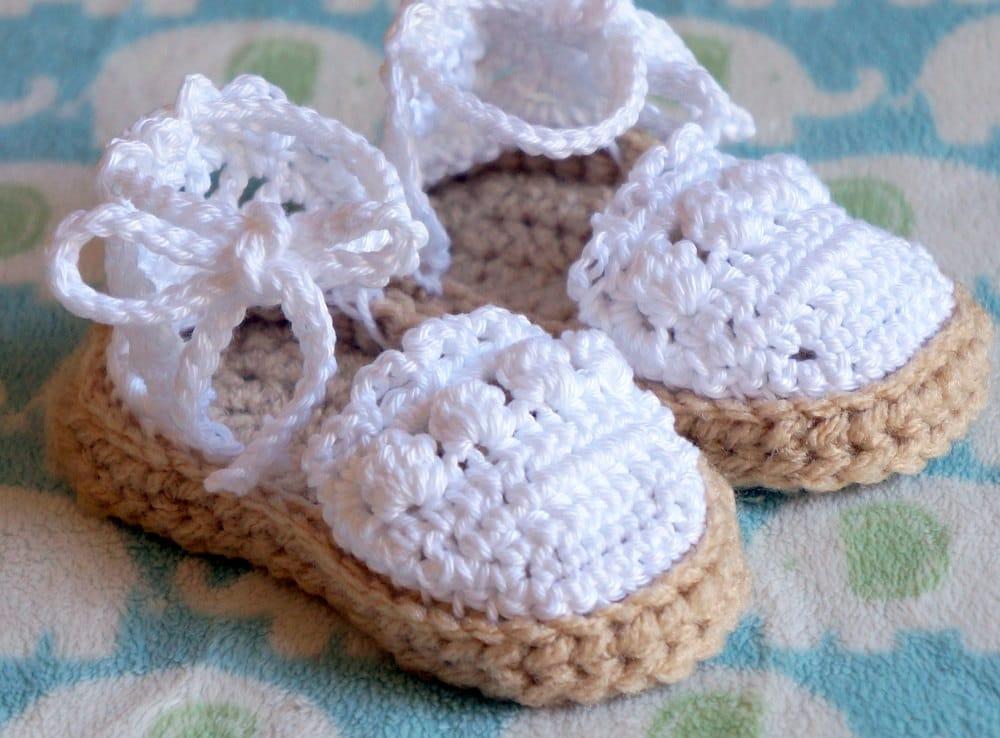 Crochet Baby Espadrilles Sandals