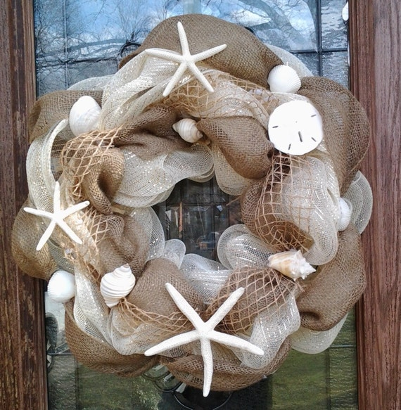 Beach Deco Mesh Wreaths