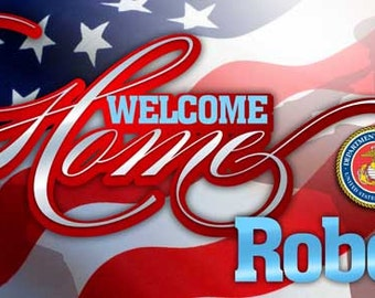 Welcome Home Marine Banner