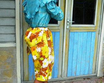 Yellow skirt with flowers (Special SUMM Dvintage)