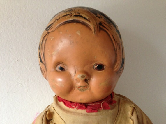 EIH Co. Inc Horsman Composition Doll with Cloth Body Scout