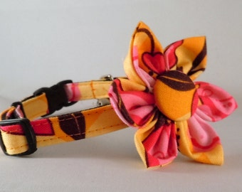 Cat Collar or Kitten Collar with Flower or Bow Tie - AndaLucia
