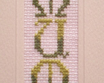 Counted Cross Stitch Bookmark Kit for 'Mum'