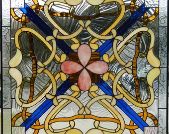 ART NOUVEAU PANEL Stained Glass