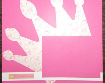12x12 Premade Princess Scrapbook Page, Girl's Scrapbook Page, Girl's Premade Page, Girl's Scrapbook, Girl's Premade Layout,Premade Scrapbook