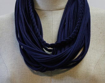 Navy T-Scarf