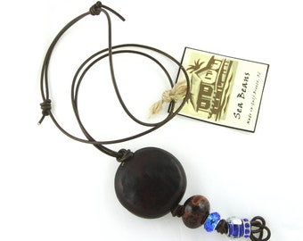 Sea Bean Bead Necklaces
