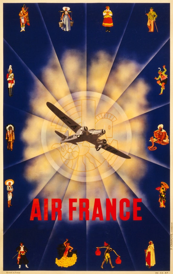 Reprint of an Air France Travel Poster Circa 1940 by VPCompany: https://www.etsy.com/listing/129580298/reprint-of-an-air-france...