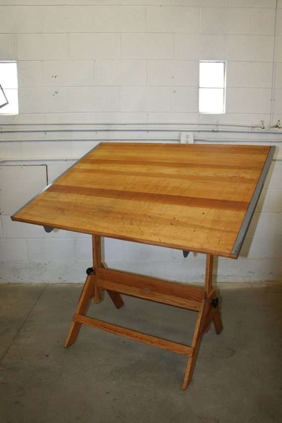 Vintage Anco Bilt Drafting Table Fully Restored