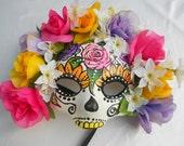 Day of the Dead, día de los muertos,Sugar skull mask - hand made