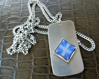 1970s pendant necklace stainless steel