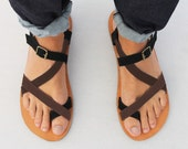 Leather Sandals - Unisex Shoes - All Sizes - Any Colors