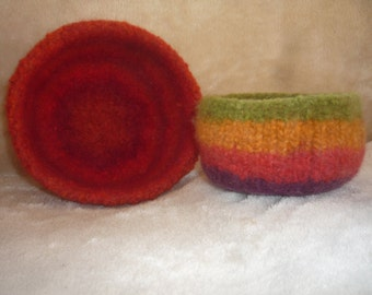 Felted Bowls Starting 6.00, Made To Order in your colour and size choice.