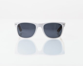 SALE!!! 50% OFF COMPTON: White Acetate/Bamboo Sunglasses