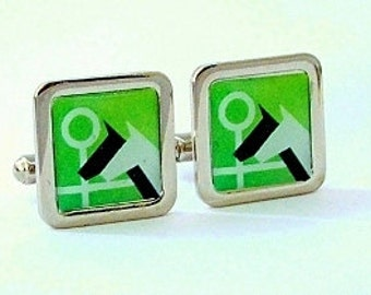 Horse Racing Grahic Cufflinks from an original image