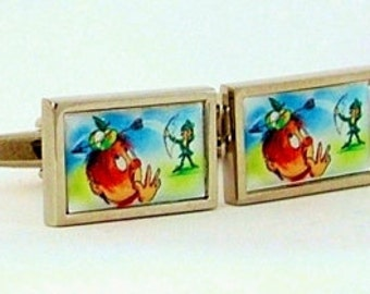 Archery Cufflinks from an original image