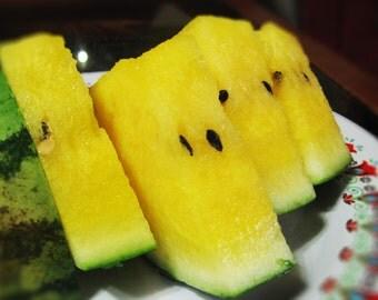 Watermelon seeds --Crimson Sweet-- non-GMO Heirloom  Seeds (Bright Yellow)