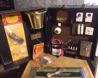 Vintage Traveling Salesman's Home Alarm Kit