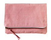 Naturally Dyed Organic Cotton Clutch - Pink