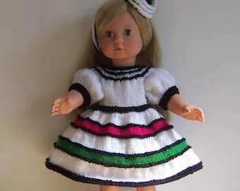 """American Girl PDF knitting pattern for 18"""" doll,  also fits Gotz, and similar size dolls."""