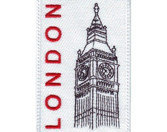 London Big Ben Embroidered Sew On Patch