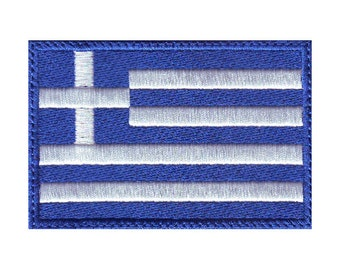 Greece Flag Embroidered Sew on Patch