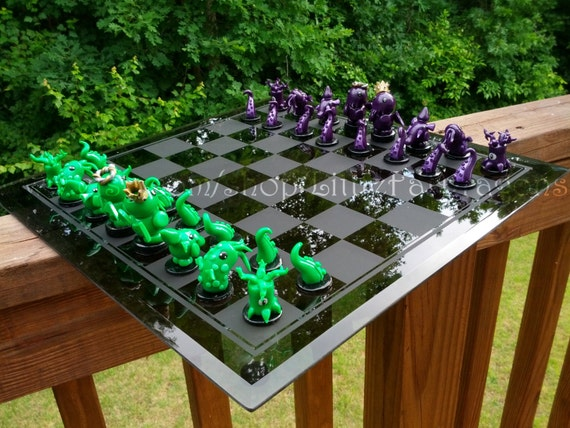 Little Fat Cthulhu Custom Chess Set - 100% Handmade