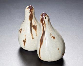 porcelain gourd salt & pepper shakers