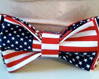 Dog Bow Tie- American Flag