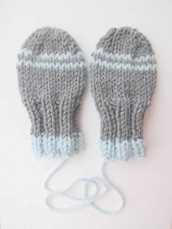 Knitting Pattern For Toddler Mittens With Thumbs : Items similar to Thumbless Baby Mittens KNITTING PATTERN, Instant Download, W...
