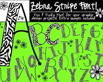 Fonts - Zebra Stripe Font