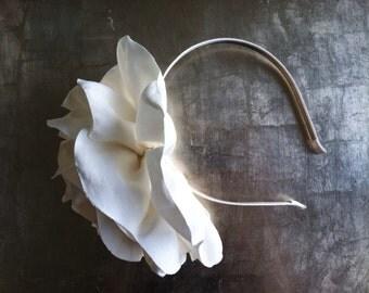 Wedding Satin Magnolia Headband