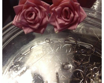 Duck tape earrings- Mini Roses