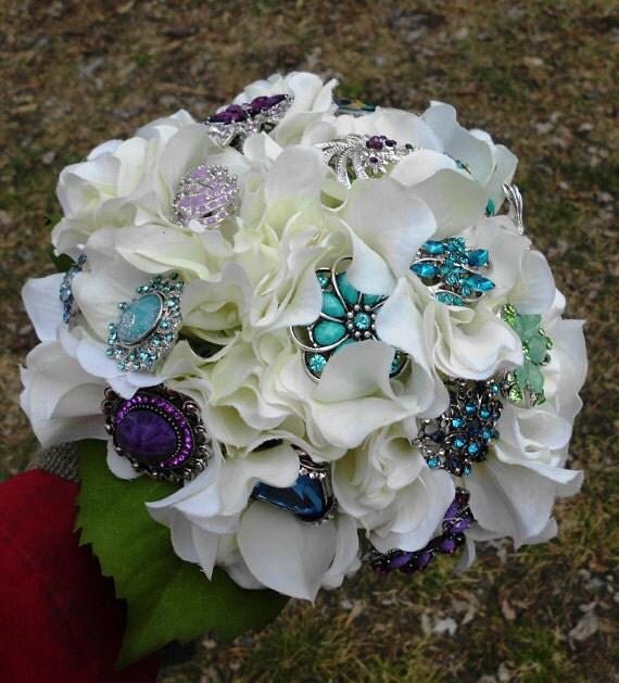 Brooch Wedding Bouquet Custom Peacock Bridal By BridalDelite