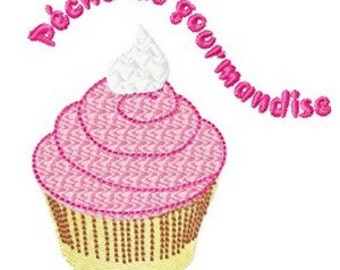 Instant download Cup cake  embroidery design