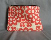 Makeup Bag, Amy Butler Wallflower Cherry Fabric
