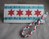 Handmade Chicago themed wallet or wristlet