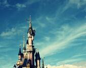 MAGIC SUMMER SALE - disney's cinderella castle in the sky: 8x10 limited edition metallic photo prints.
